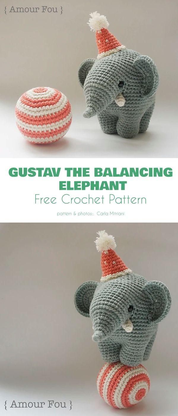 Adorable Elephant Free Crochet Patterns