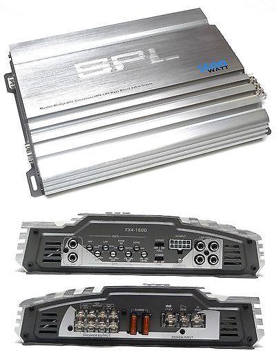 Car Amplifiers New Spl Fx4 1600 Fx Series 1600 Watt 4 Channel