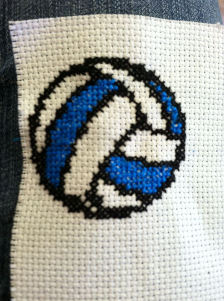 Volleyball Cross Stitch