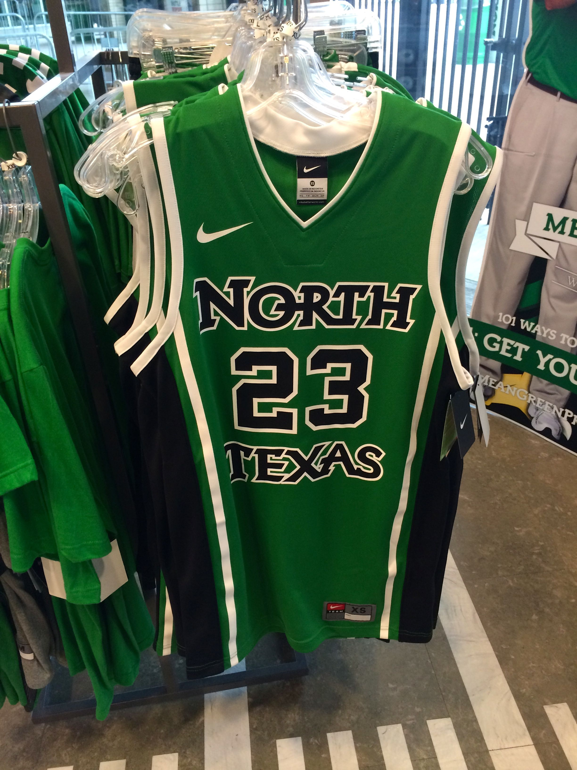 e0c579d9d37e Need a jersey for basketball season  Get your North Texas Nike jersey at  the Apogee Stadium Store for  60.00 and matching shorts for  45.00