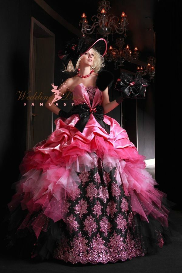 Pink and Black Bridal Gown - Available in Every Color 66 | Bridal ...