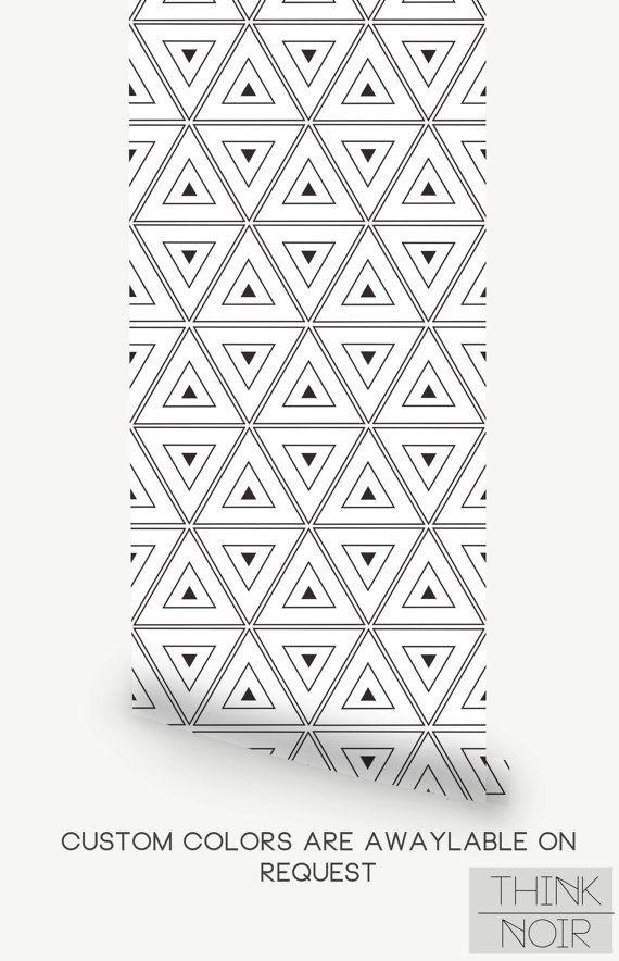 Geometric Triangle Wallpaper Geometric By ThinkNoirWallpaper