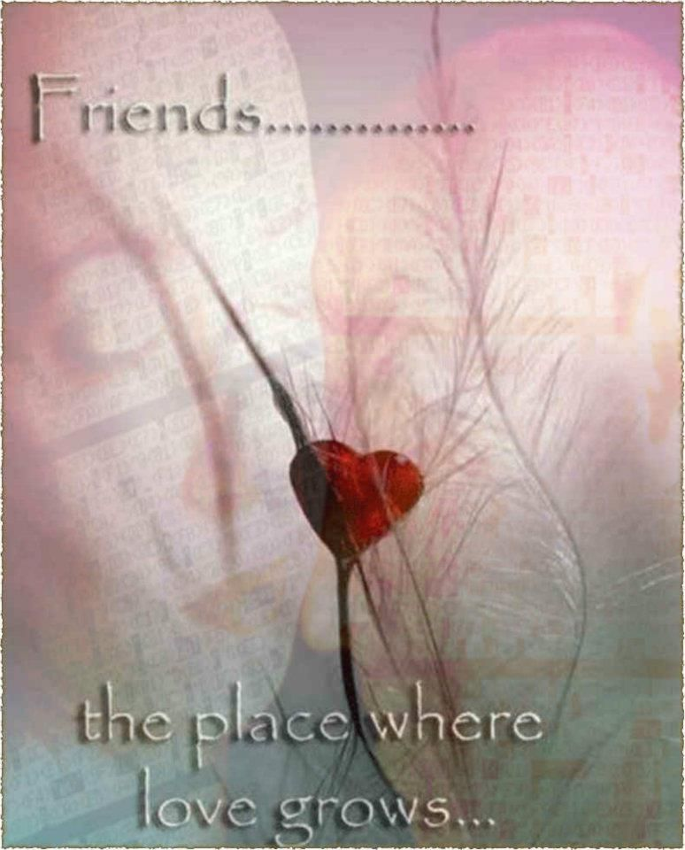 Friends...... the place where love grows.. ღ — hier: Nowhere.