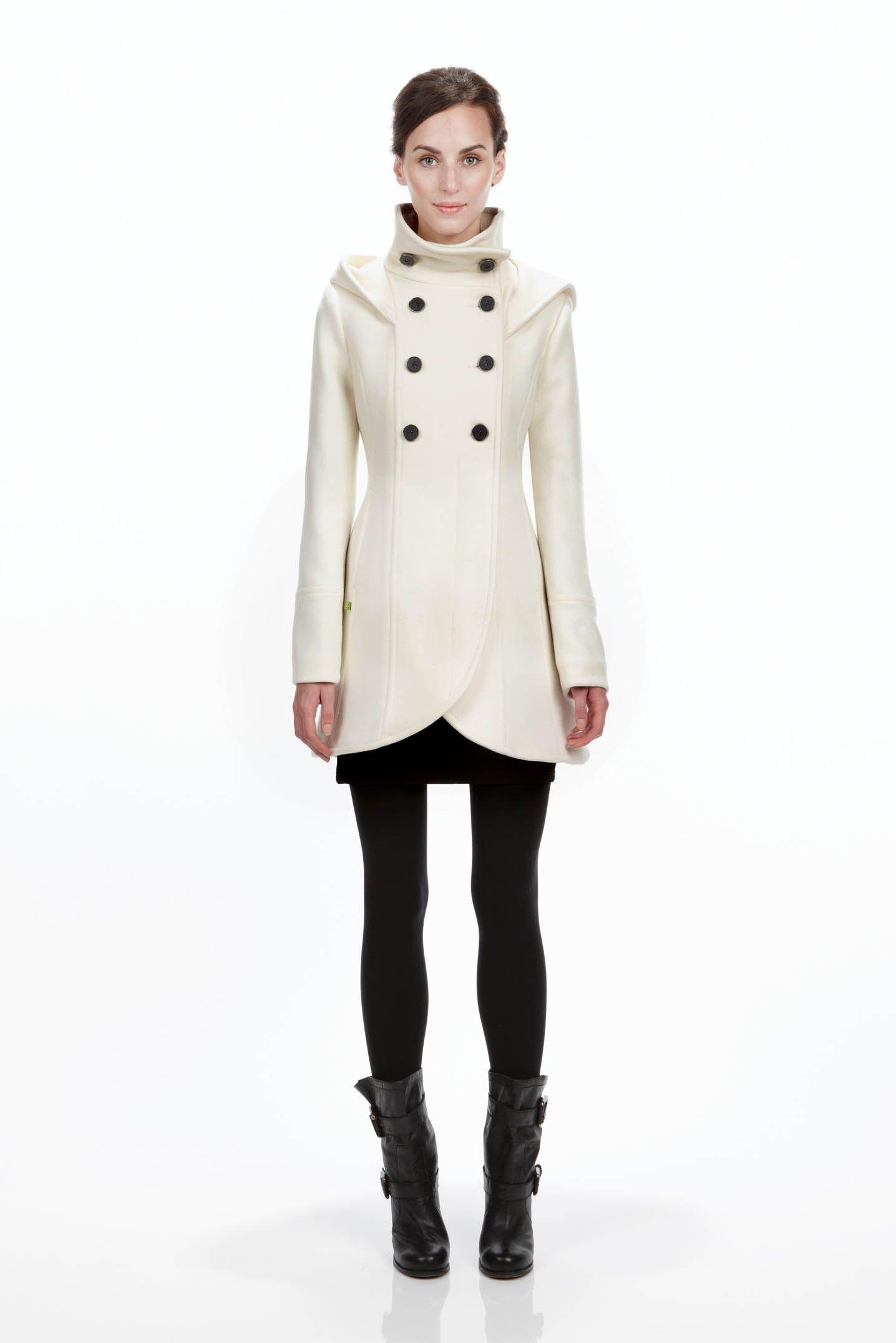 Soia Kyo Bergi Wool Coat Off White Love Their Coats Coat White Winter Coat Clothes [ 2152 x 1436 Pixel ]
