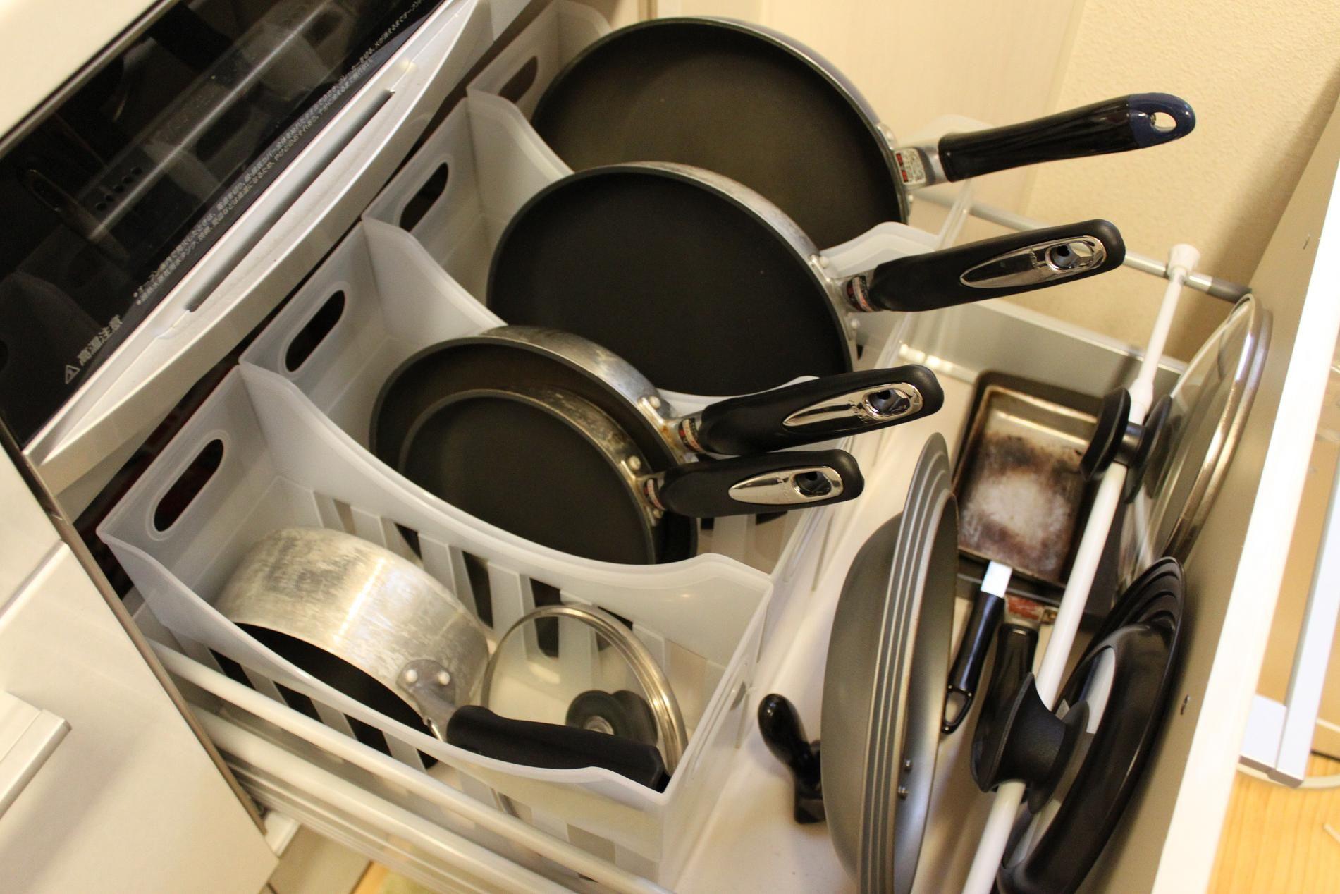 フライパンの収納 キッチン収納術 インテリア 収納 フライパン 収納