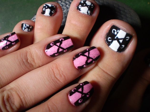 Corset nail hand and foot nail art gallery by nails magazine corset nail hand and foot nail art gallery by nails magazine prinsesfo Images