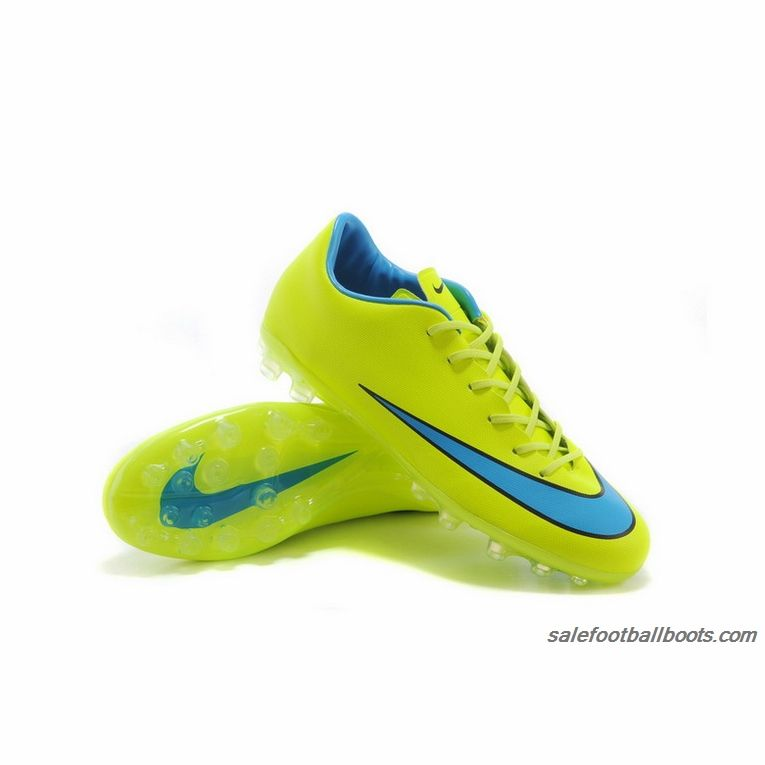 Nike Mercurial Victory X AG Yellow Blue $63.99. Nike Soccer ShoesJordan ...