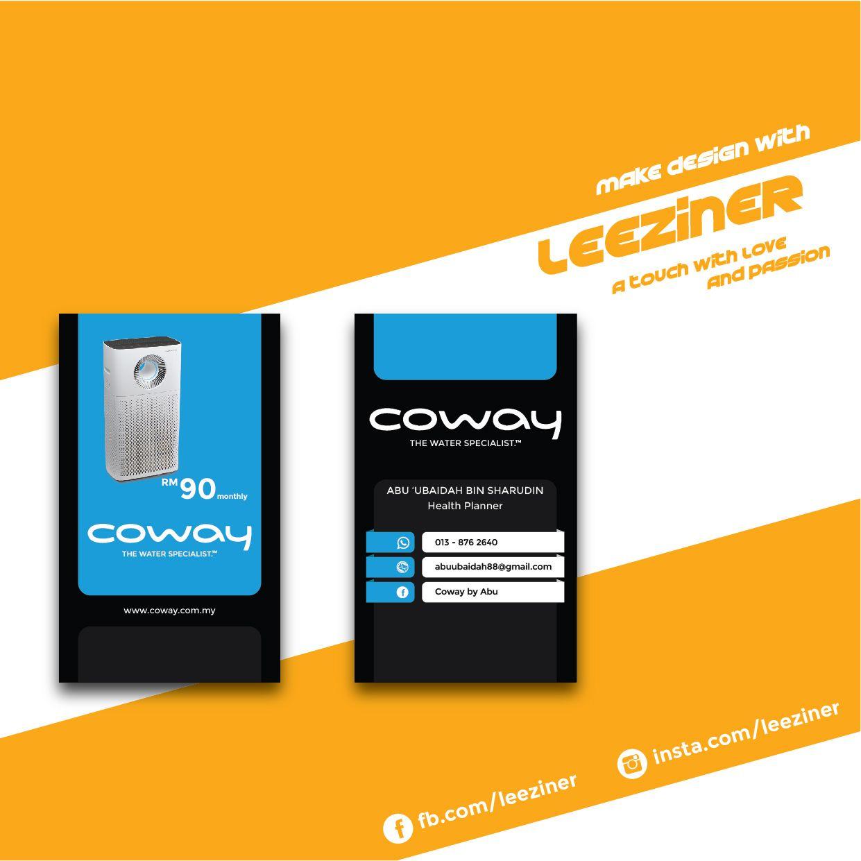 Coway Business Card Card Design Make Design Cards