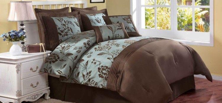 Blue And Brown Bedding Sets Comforter Sets Home Brown Bed Blue and brown queen comforter sets
