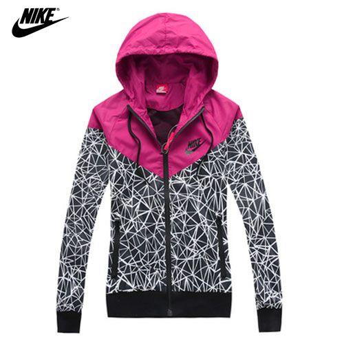 be3198e59d9c NIKE spring Autumn new Women s sports jacket hooded jacket Women Fashion Thin  Windbreaker Zipper Coats Free Shipping!-in Basic Jackets from .
