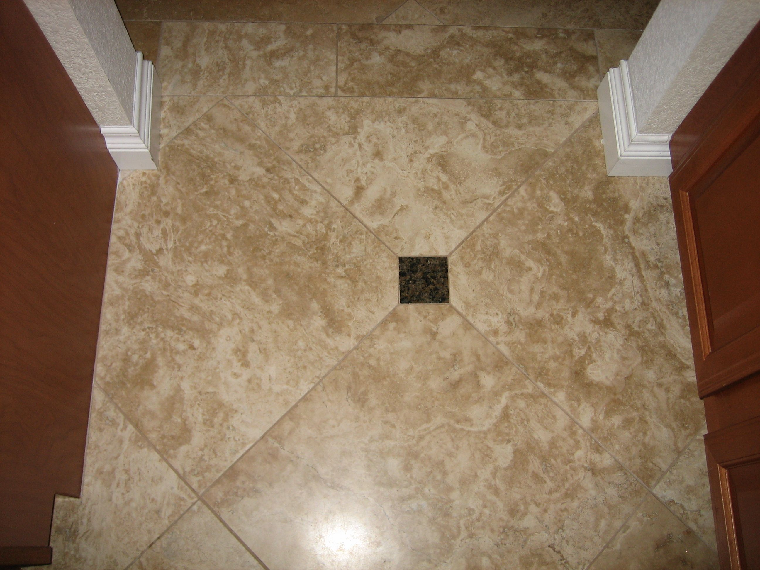 One Of Ceramic Tile Floor Designs Here Also Shows That The Use Of