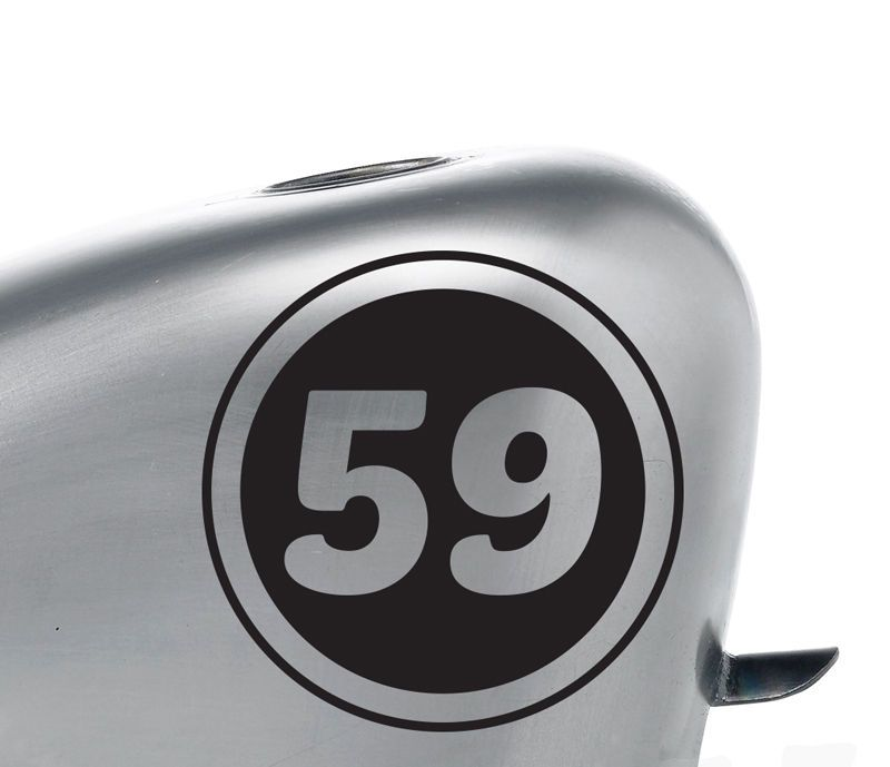 2x 5 Motorcycle Team Racing Inverted Number Decal Stickers Vintage Cafe Racer Stickers Vintage Cafe Racer Deca Vintage Cafe Racer Team Decal Cafe Racer