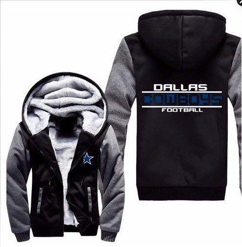 Dropshiping USA Size American Fan Dallas Cowboys Winter Autumn Men Zipper Hoodie Fleece