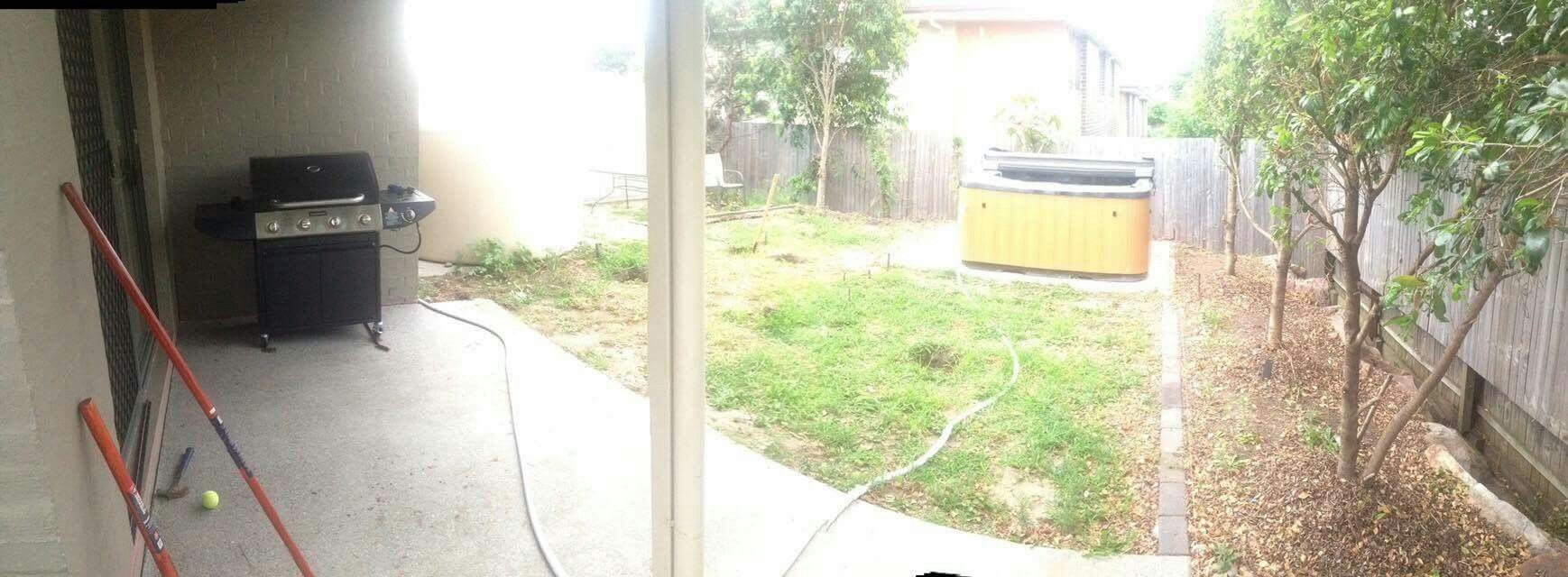 spa on concrete slab digging holes my outdoor decking with in