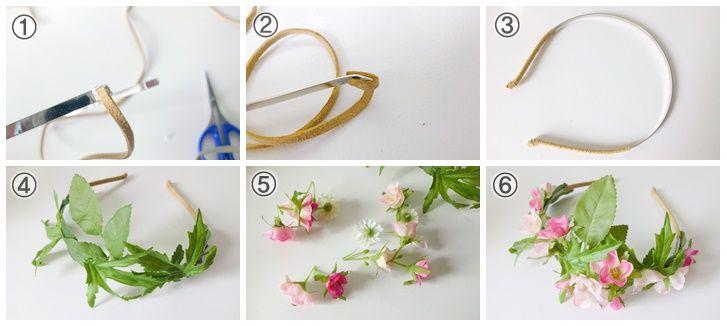 como hacer coronas de flores para la cabeza buscar con google - Como Hacer Diademas De Flores