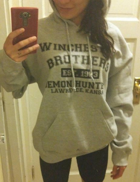 Mempire Mens Hoodie Shirt Sam and Dean Winchester Sweatshirts Hooded Shirt for Boys and Girls