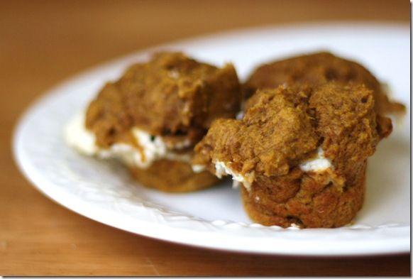 Pumpkin protein cream cheese muffins