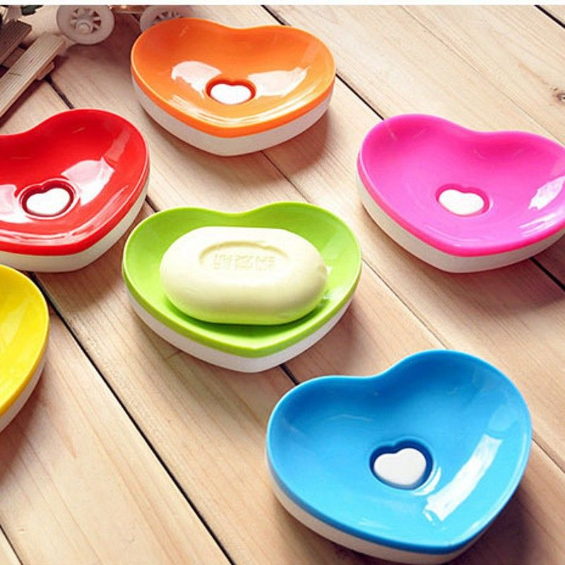Cute Heart Shaped Bathroom Shower Multifunctional Soap Box Drain And Clean Soap Dishes Kitchen Sink Sponge Holder Bz176 Dish Soap Holder Soap Boxes Soap Holder