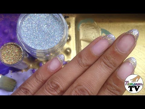 Gel french tip manicure with loose glitters nail art pinterest do you love french tip manicures and glitter this is the gel nail art tutorial for you i will show you how to give yourself or a client a gorgeous gel solutioingenieria Image collections