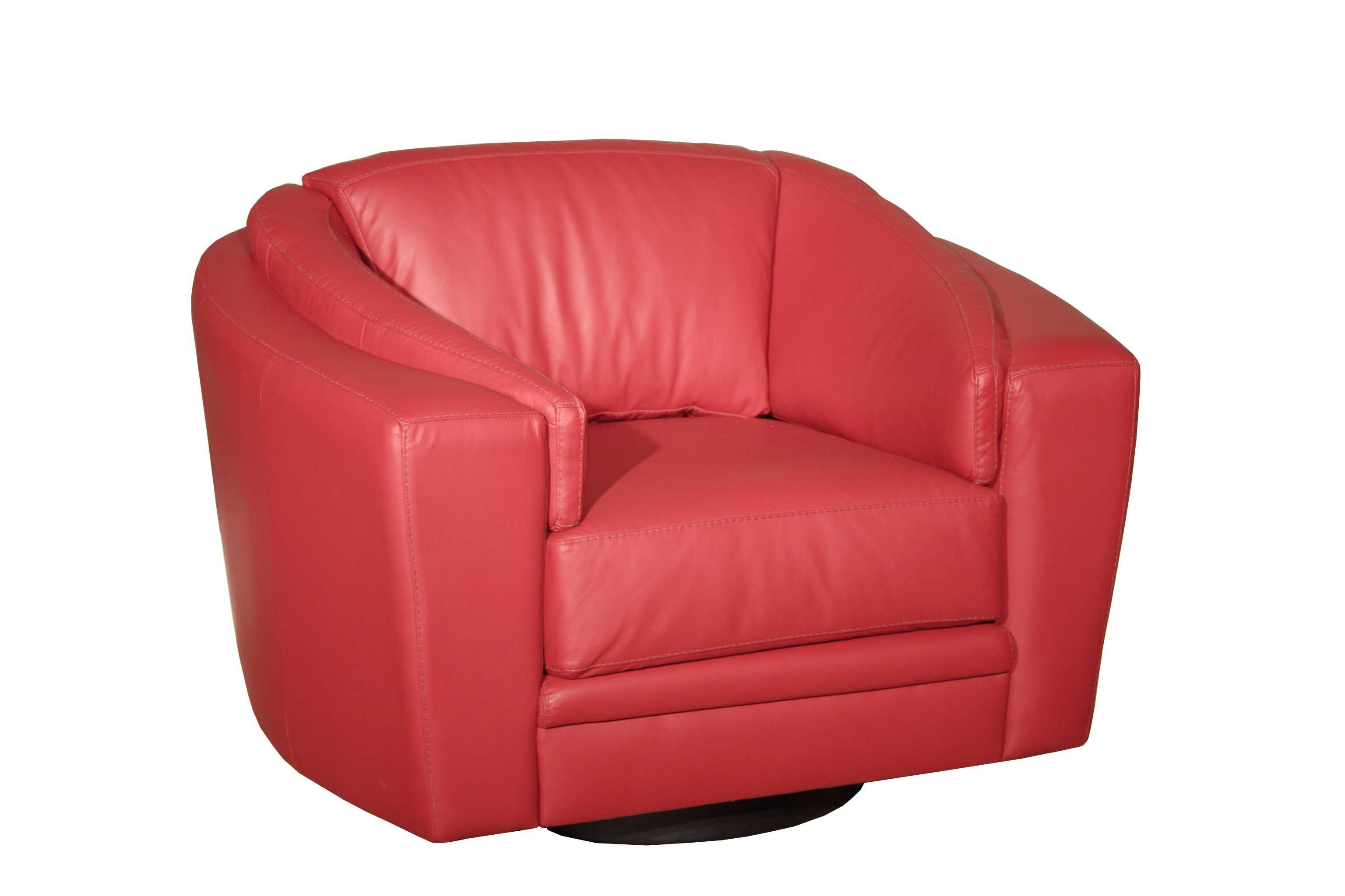 Fiona swivel chair from red leather furniture loveseat