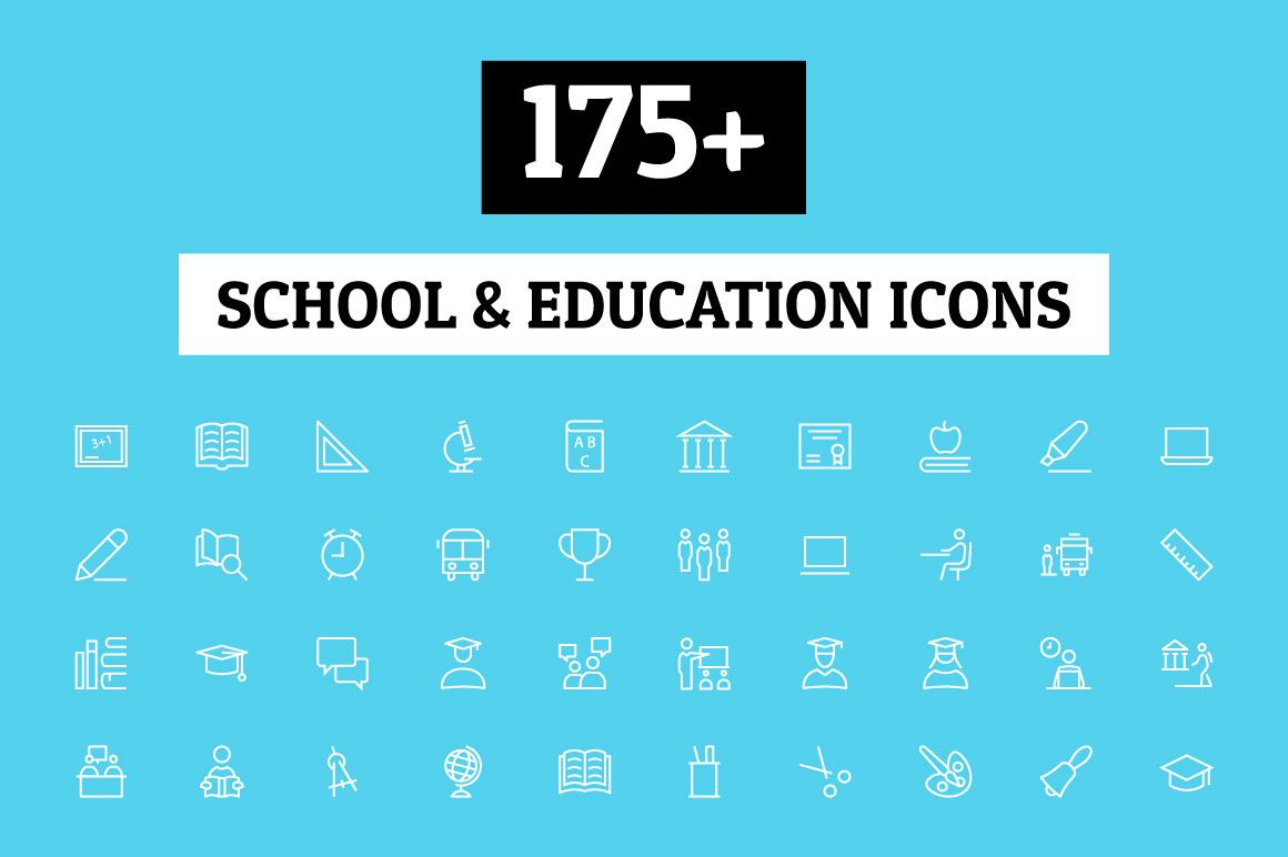 175 School And Education Icons By Creative Stall On Creative