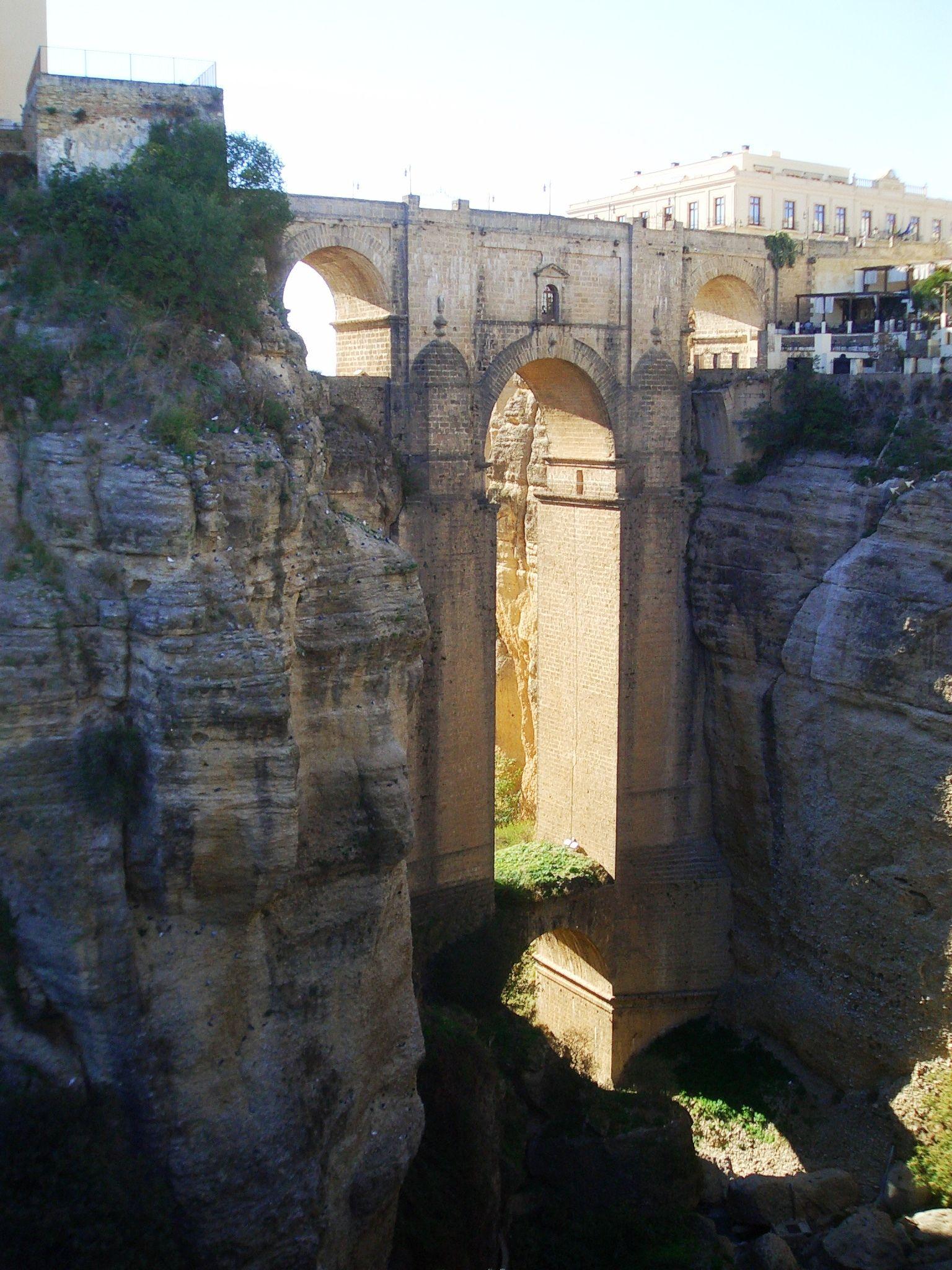 Rhonda, Spain- bridge in the gorge