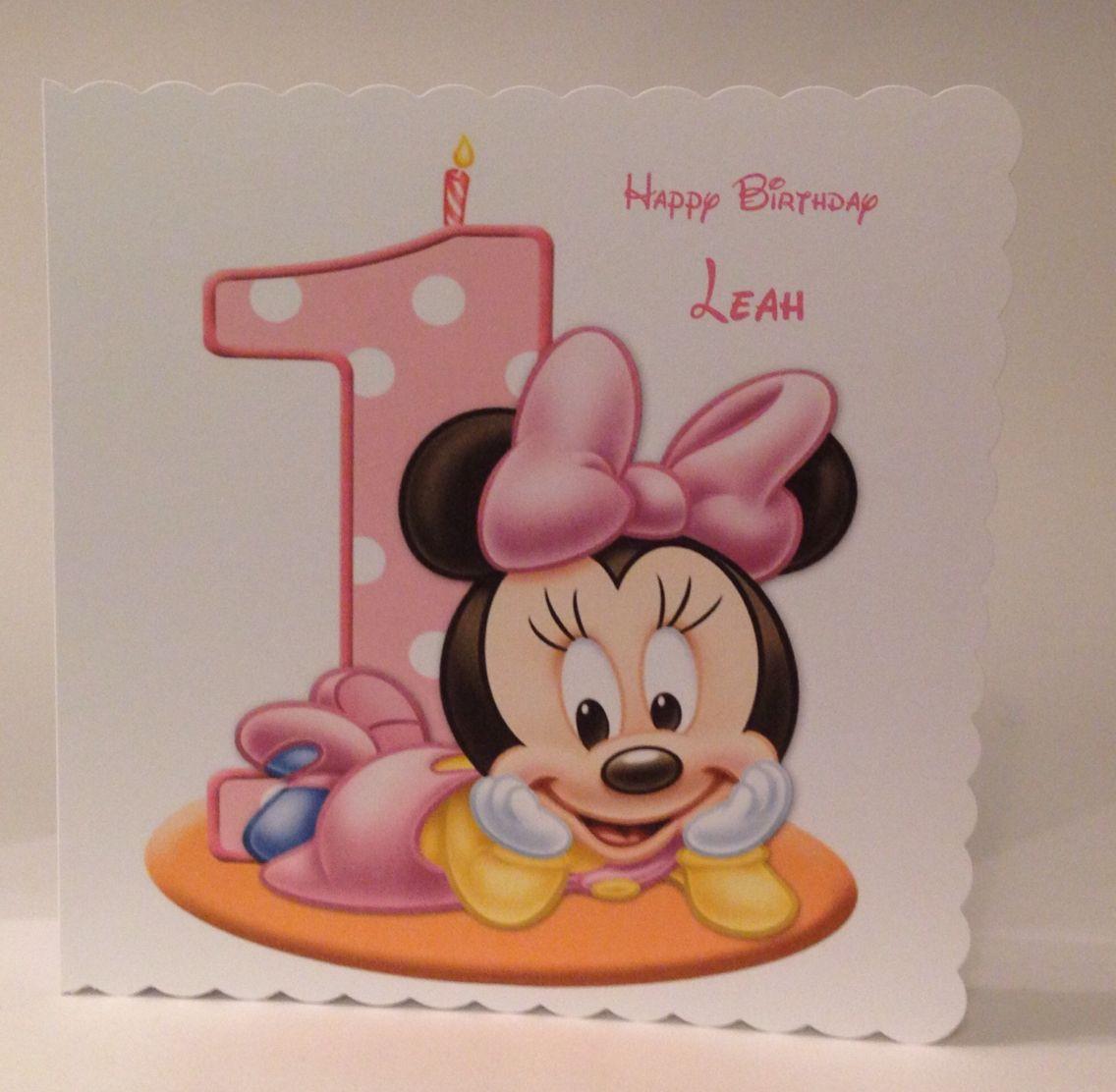 1st Birthday card 2 or 4 Wizzywordz Pinterest