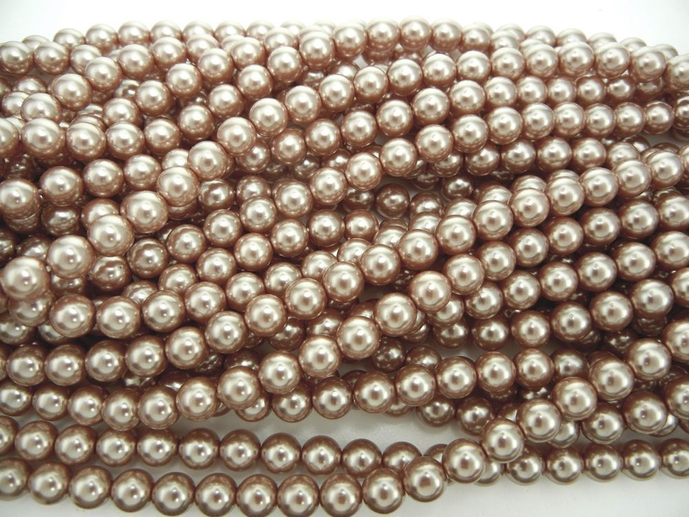 Czech Round Glass Imitation loose Pearls White nacre pearl color Bridal White