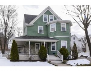 Still havent found what youre looking for? Thats because it just became available.  This is a bright sun-filled antique colonial just steps from Dedham Square.  Enjoy your morning coffee on the wrap around front porch, or host fabulous backyard barbecues around the newly installed firepit and patio.  Step in to a beautiful entryway that leads you to a proper living room and dining room, boasting hardwood floors, high ceilings and crown moulding.  A spacious updated eat-in kitchen with…