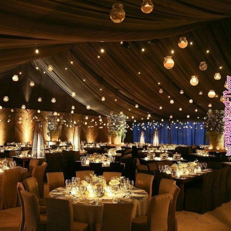 30 Rustic Barn Wedding Reception Space with Draped Fabric Decor Ideas | Roses & Rings - Part 2