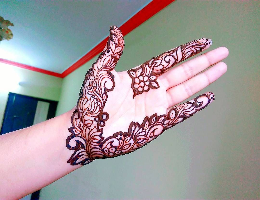New mehndi design hope you guys like it watch full video on YouTube ...