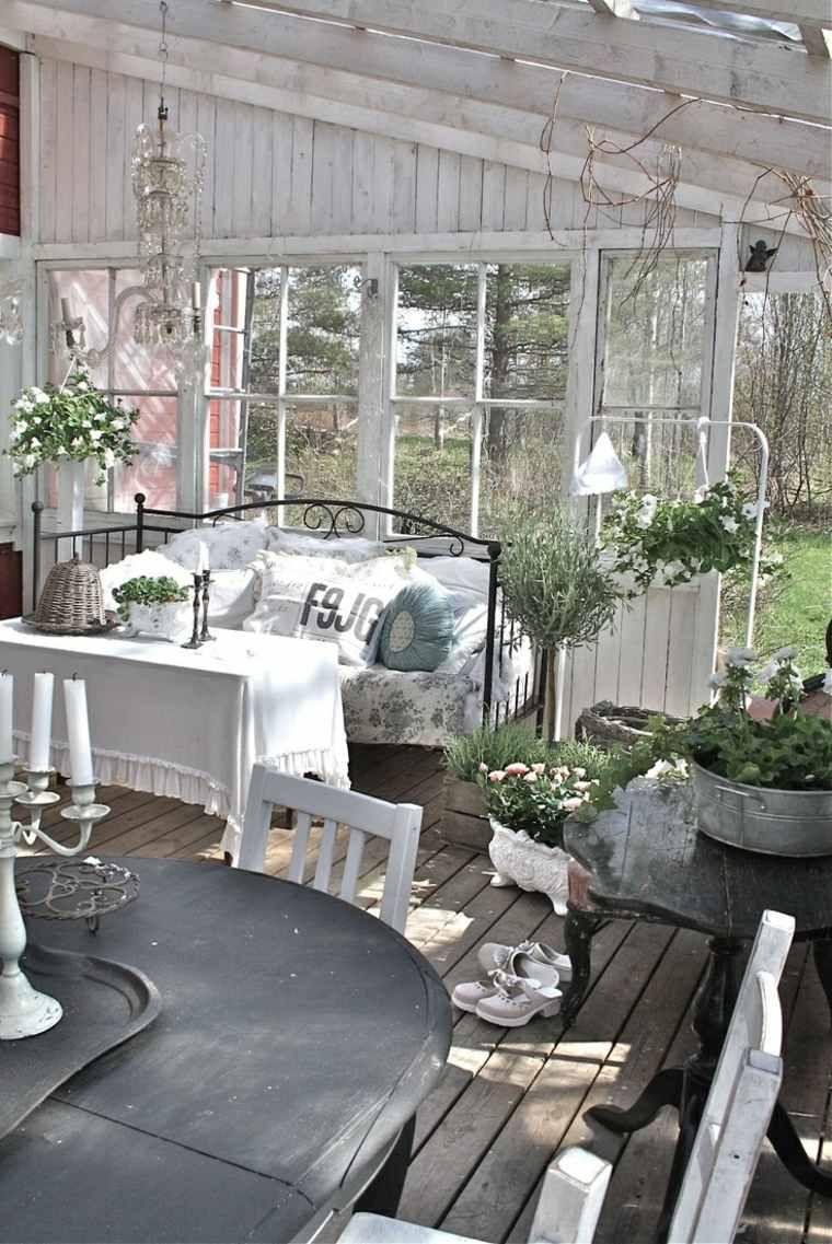 Am nagement jardin shabby chic en 46 id es pour le printemps shabby chic fu - Meubles veranda jardin ...