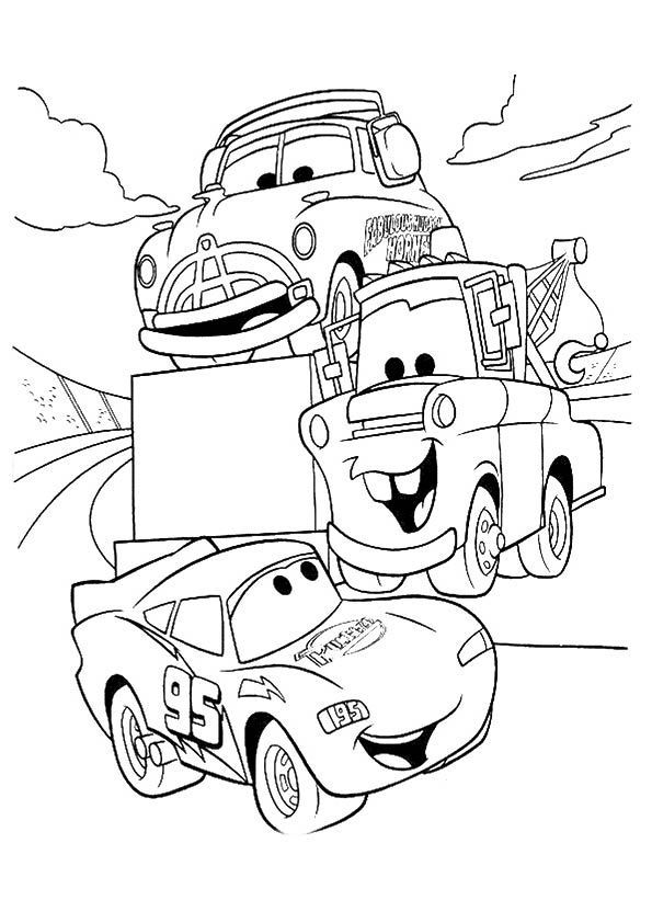 Pin On Cars Coloring Pages