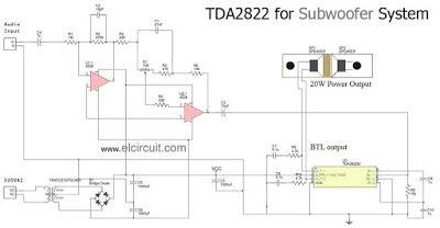 how to make subwoofer using ic tda2822 audio schematic pinterest rh pinterest com
