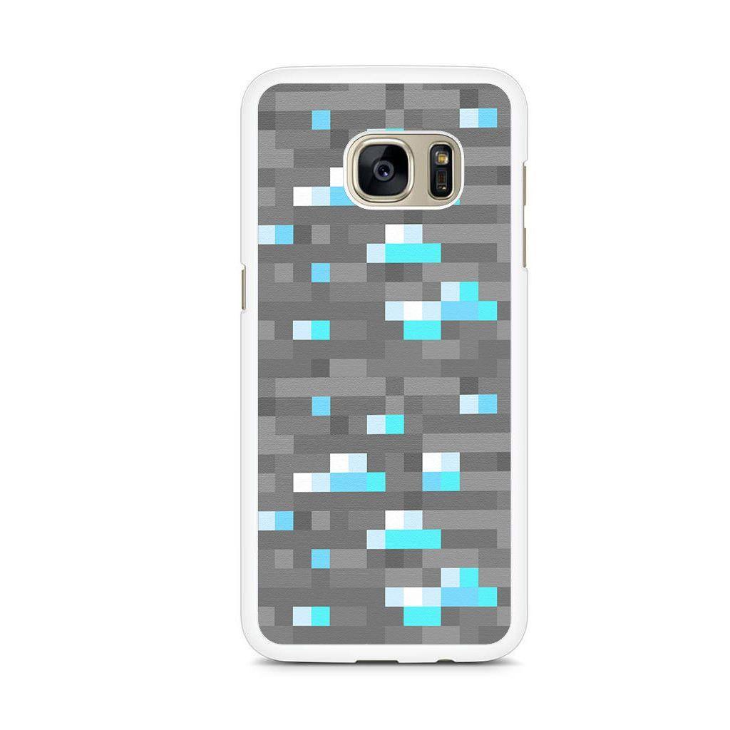 Minecraft Inspired Ore Diamond Samsung Galaxy S7 Edge Case Samsung Galaxy S6 Edge Cases Samsung Galaxy S6 Case Samsung Galaxy S7 Edge Cases