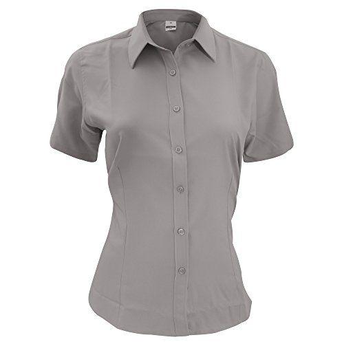 Henbury Ladies Short Sleeve Anti-bac Wicking Shirt New Anti Antibacterial Shirts