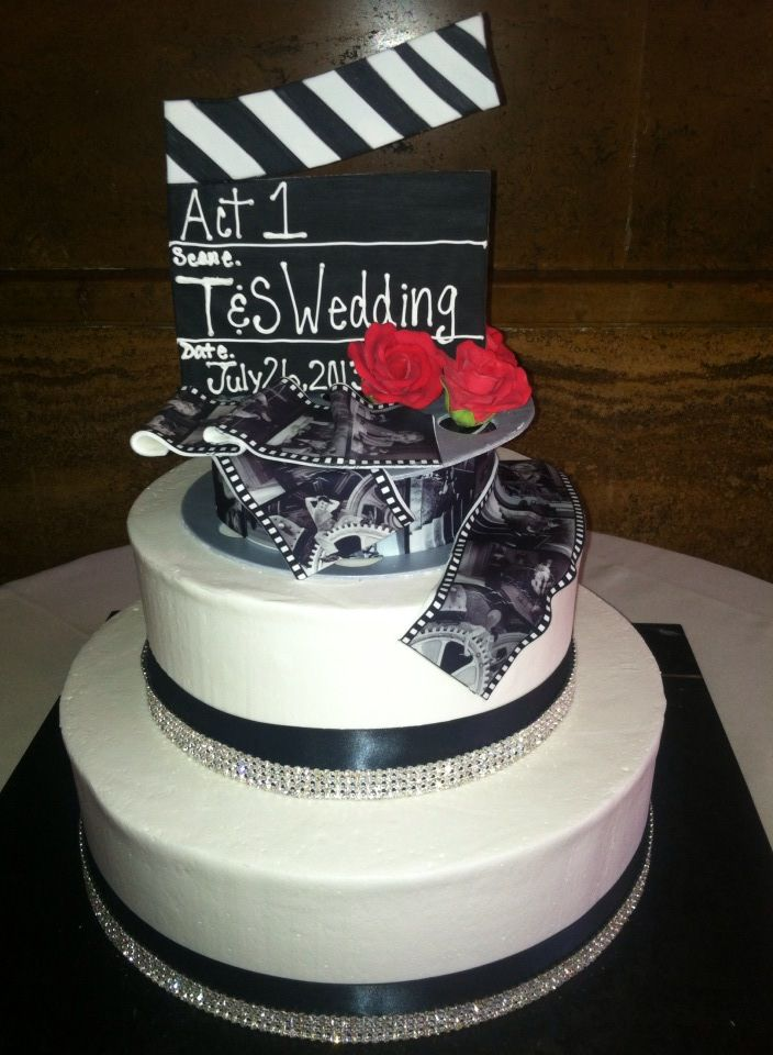 Wedding cakes hollywood theme