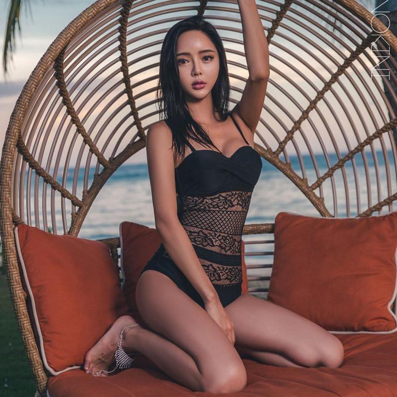 f8aedebb98b0a Korean Summer Sexy Black Knitted Hollow Mesh 1 Piece Swimsuit (swim su –  SYNDROME - Cute Kawaii Harajuku Street Fashion Store