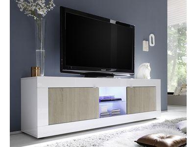 Meuble Tv Gm Basic Pin Blanc Brillant Sejours Pinterest Modern