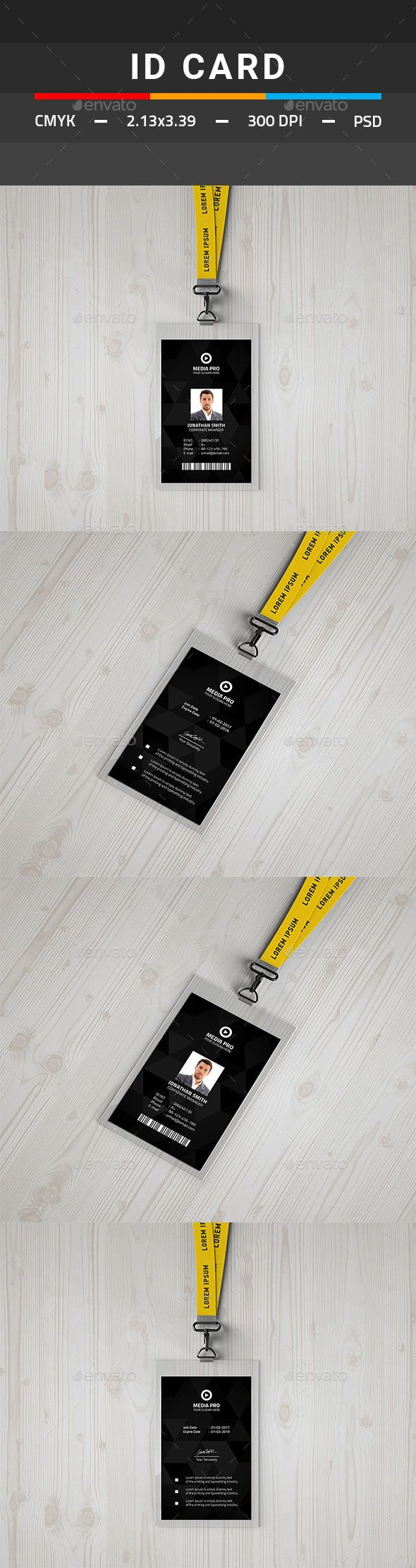 ID Card | Pinterest | Print templates, Template and Card templates