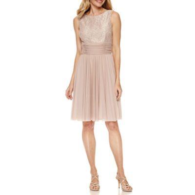 6f00781c1a6 La Nouvelle Renaissance Sleeveless Ruched-Waist Dress - JCPenney ...