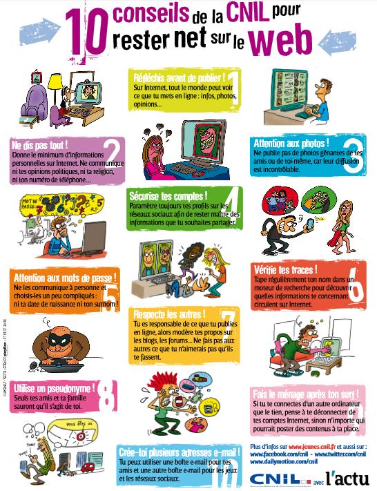 """Enseignant, animateur, bénévole ? Commandez le poster """"Rester net sur le web"""" ► http://www.jeunes.cnil.fr/pied-de-page/recevoir-de-la-documentation-pedagogique/…"""