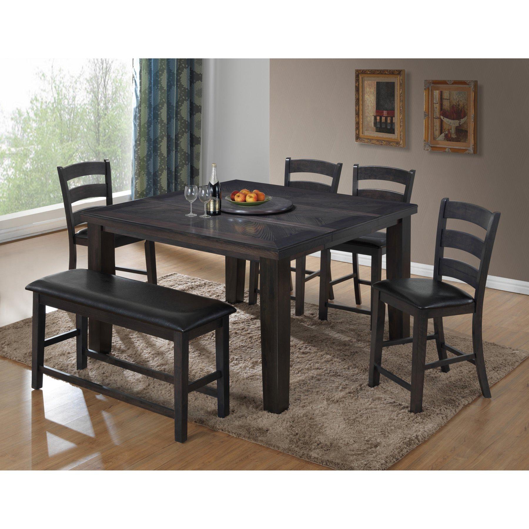 Best Master Furniture Carol Rectangular 6 Piece Counter Height