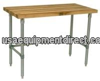 Flat Maple Top Open Base Work Table 30x48