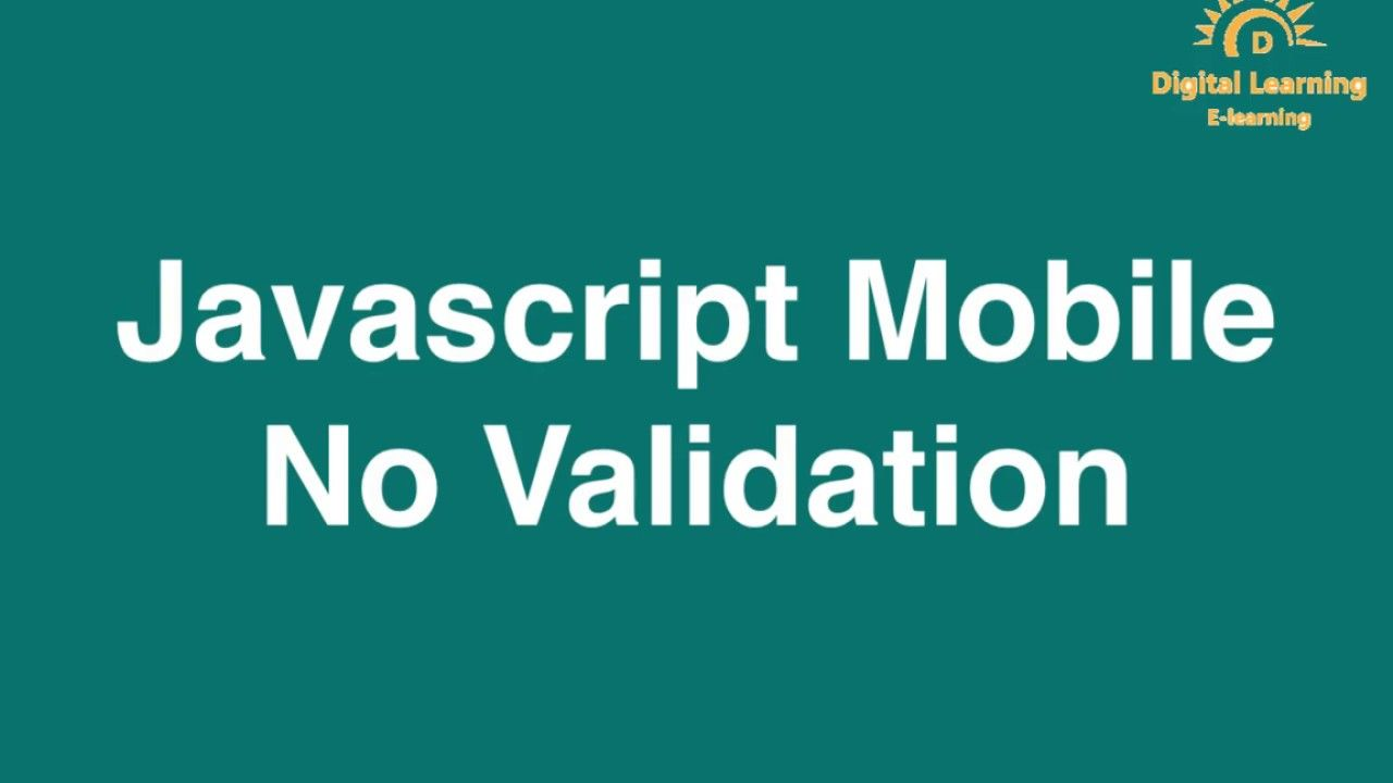 33 Javascript Mobile No Validation in 2020 | Digital ...