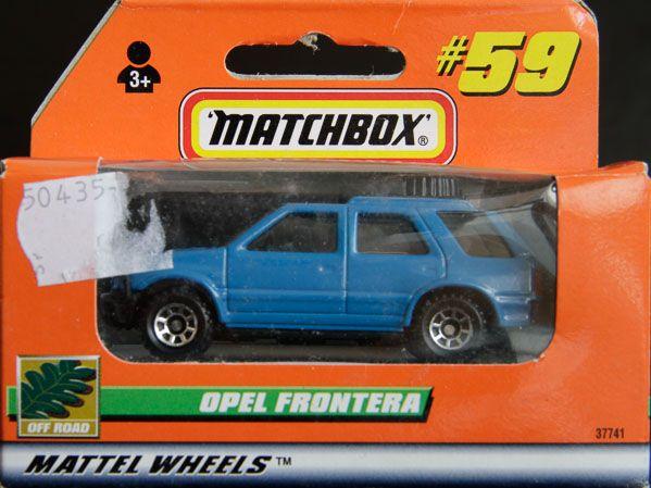 Model Matchbox Opel Frontera Matchbox Opel Matchbox Cars