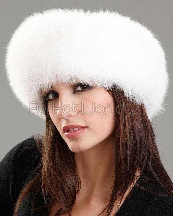 White Fox Fur Headband  cc198bf8791