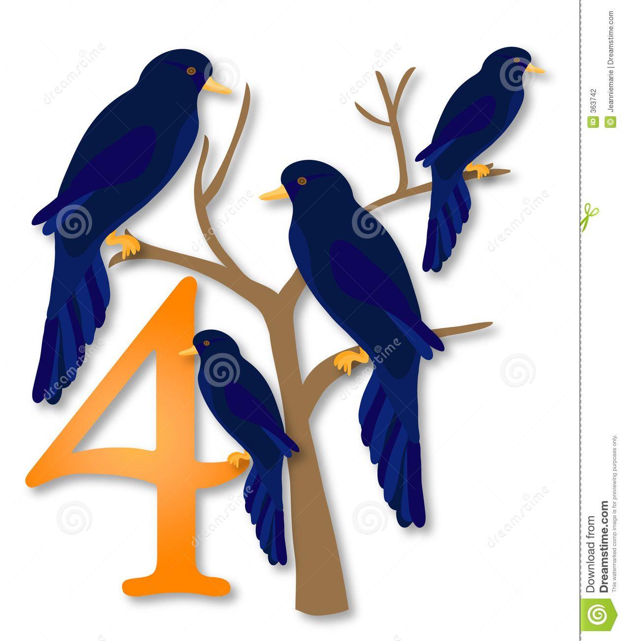 12 days of christmas 4 calling birds h day xmas 12 days rh pinterest com 12 days of christmas clipart border 12 days of christmas web clipart