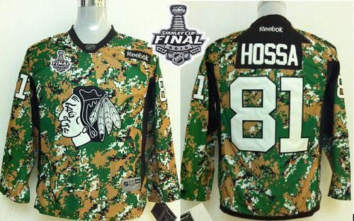 blackhawks 81 marian hossa camo veterans day practice 2015 stanley cup stitched youth nhl jersey
