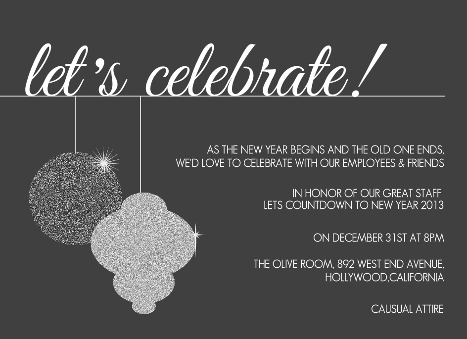 Office Christmas Party Invitation Wording | New Years | Pinterest ...